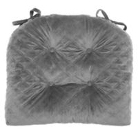 Therapedic® Velvet Quilted Chair Pad in Gunmetal