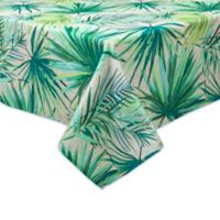 Destination Summer Palm Garden 60-Inch x 84-Inch Oblong Indoor/Outdoor Tablecloth