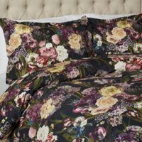 Vesper Lane Rosewood Queen Duvet Cover Set in Black