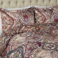 Vesper Lane Lafayette King Duvet Cover Set in Burgundy