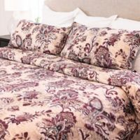 Granpallazzo By Vesper Lane Gabriela Reversible King Duvet Cover Set in Burgundy