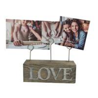 SixTrees LTD 3-Photo Love Photo Clip