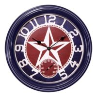 La Crosse Technology 12-Inch Indoor/Outdoor Wall Clock with Temperature in Blue