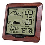 La Crosse Technology 6-Inch Weather Station Atomic Clock with Forecast