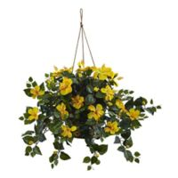 Nearly Natural Artificial Hibiscus Hanging Plant
