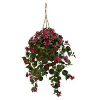 Nearly Natural 28-Inch Bougainvillea Silk Hanging Basket