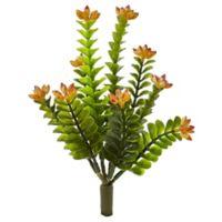 Nearly Natural 9-Inch Flowering Sedum Morga Artificial Plant in Orange (Set of 6)