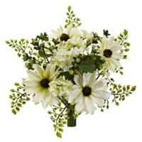 Nearly Natural 9-Inch Mixed Cream Daisy Flower Bundles (Set of 3)