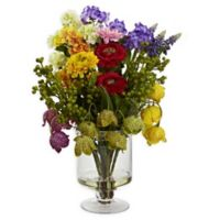 Nearly Natural 16-Inch Spring Floral Arrangement