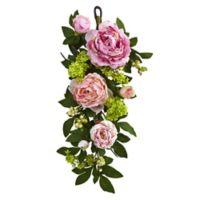 Nearly Natural 24-Inch Mixed Peony Hydrangea Teardrop