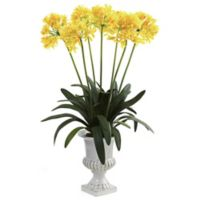 Nearly Natural 34-Inch African Lily Artificial Arrangement with Urn in Yellow