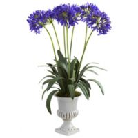 Nearly Natural 34-Inch African Lily Artificial Arrangement with Urn in Purple