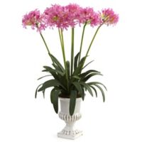 Nearly Natural 34-Inch African Lily Artificial Arrangement with Urn in Pink