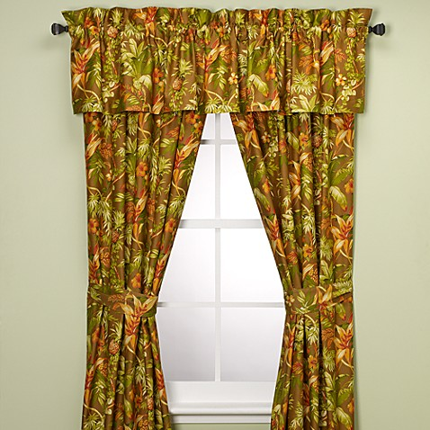 Tommy Bahama Home Tropical Harvest Window Curtain Panels 100 Cotton Bed Bath Beyond