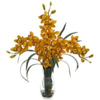 Nearly Natural 29-Inch Triple Orchid Cymbidium in Vase