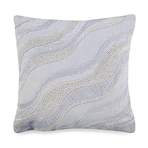 KAS White Ginko 12-Inch Square Throw Pillow - Bed Bath & Beyond