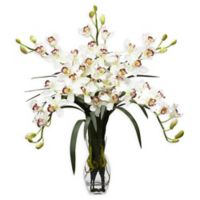 Nearly Natural 28-Inch Cymbidium Orchid Floral Arrangment