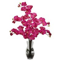 Nearly Natural Artificial Multicolor Phalaenopsis Orchid Arrangement in Vase