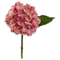 Nearly Natural Artificial Pink Hydrangea Flowers (Set of 12)
