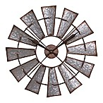 La Crosse Technology 22-Inch Metal Windmill Wall Clock