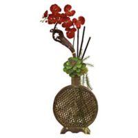 Nearly Natural Orchid & Succulent Sunrise Floral Arrangement
