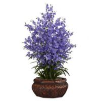 Nearly Natural 36-Inch Dancing Lady Floral Arrangement in Planter in Purple