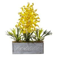 Nearly Natural Artificial Dancing Lady & Staghorn in Planter