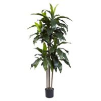 Nearly Natural 5-Foot Artificial UV-Resistant Dracaena Tree in Planter