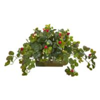 Nearly Natural Artificial Strawberry Plant in Planter