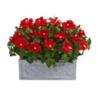Nearly Natural Artificial Hibiscus Arrangement in Planter