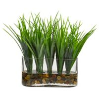 Nearly Natural 9-Inch Artificial Vanilla Grass in Vase