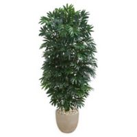 Nearly Natural 5-Foot Bamboo Palm Tree in Sandstone Planter
