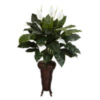 Nearly Natural 57-Inch Artificial Spathyfillim Plant with Stand