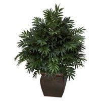Nearly Natural 43-Inch Triple Bamboo Palm Plant with Vase