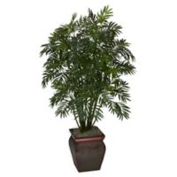 Nearly Natural 45-Inch Bamboo Palm Tree in Urn