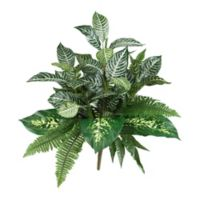 Nearly Natural 25-Inch Mix Greens Artificial Plants (Set of 2)