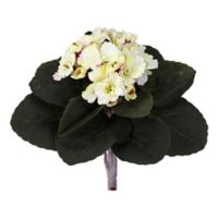 Nearly Natural 9-Inch Artificial Pink/Cream African Violet Plants (Set of 6)
