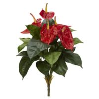 Nearly Natural 18-Inch Artificial Anthurium Assortment (Set of 4)