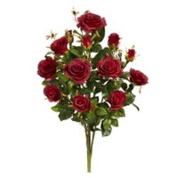 Nearly Natural 28-Inch Garden Rose Artificial Plant (Set of 2)