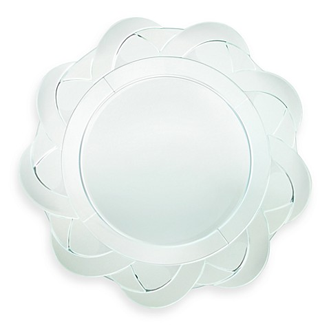ChargeIt! by Jay Round Mirror 13-Inch Charger in Estate Flower Petals