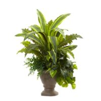 Nearly Natural 25-Inch Yucca, Marginaturm, Pothos, and Bracken with Planter