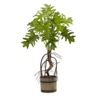 Nearly Natural 27-Inch Artificial Split Philo Plant with Bucket Planter