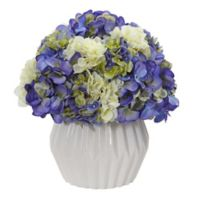 Nearly Natural 12-Inch Artificial Hydrangea Arrangement in Vase