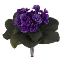 Nearly Natural 9-Inch African Violet Artificial Plant (Set of 6)