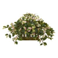 Nearly Natural 16-Inch Hoya Artificial Plant in Decorative Planter