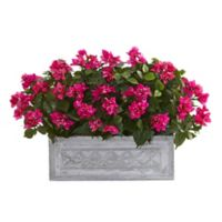 Nearly Natural Artificial Bougainvillea Plant in Planter