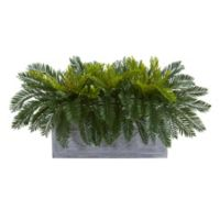 Nearly Natural Artificial Cycas Plant in Planter