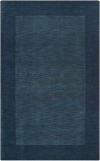 Surya Mystique Solid Border 5' x 8' Area Rug in Blue/Black