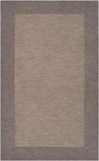 Surya Mystique Solid Border 2' x 3' Accent Rug in Grey/Brown