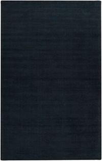 Surya Mystique Solid 6' x 9' Area Rug in Black